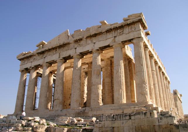 Acrópole, em Atenas, na Grécia