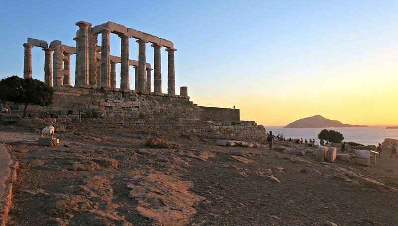 Templo de Poseidon, em Atenas, na Grécia