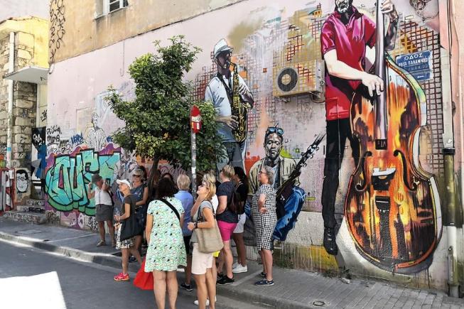 Tour de arte de rua em Atenas