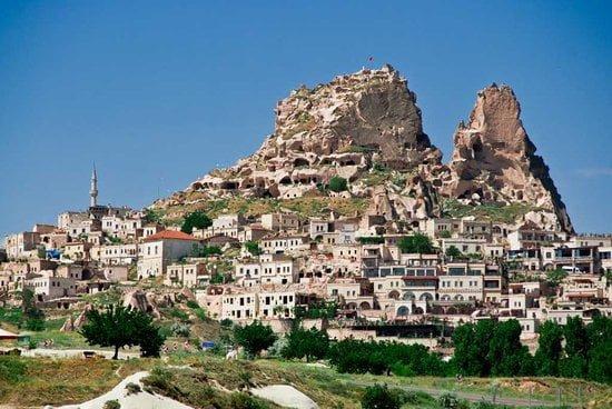 Castelo de Uchisar, na Capadócia, na Turquia