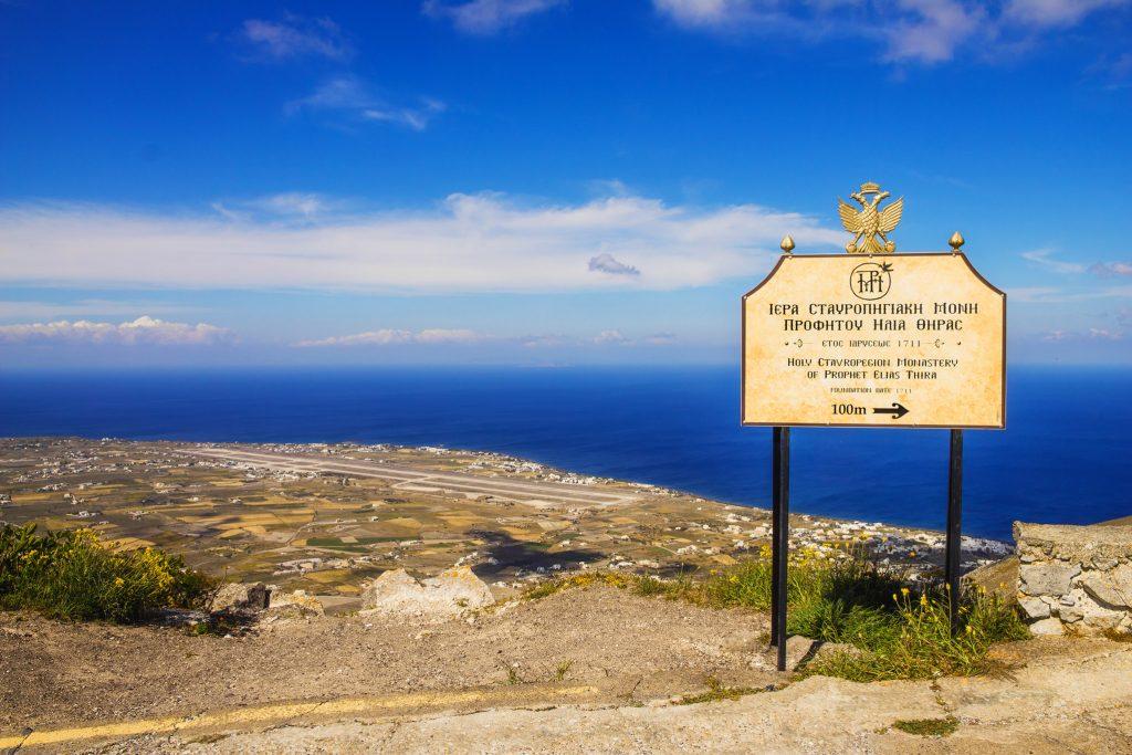 ponto mais alto de Santorini