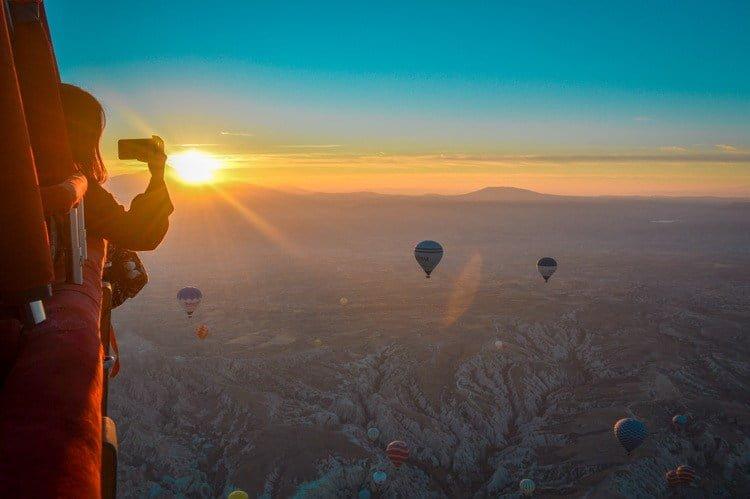 Passeio de balão de ar quente na Capadócia