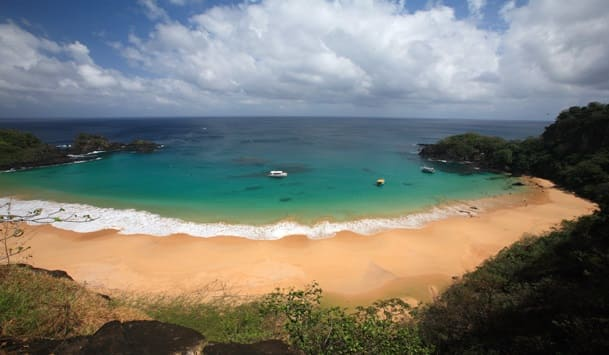 Praia do Sancho vista panorâmica
