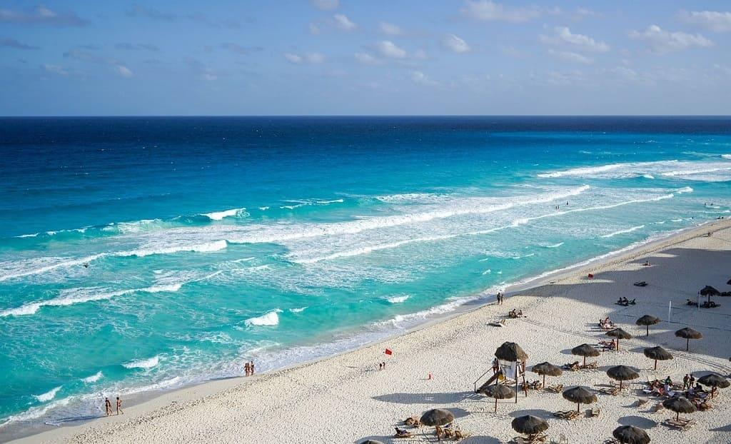 Cancun praia paradisíaca