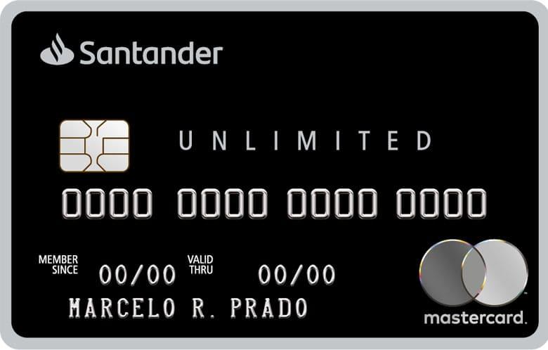 Melhor cartão para milhas: Santander Unlimited Mastercard Black