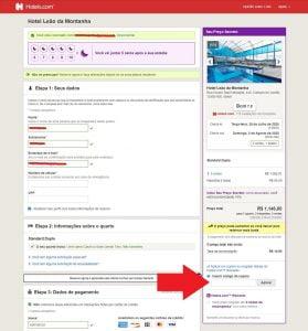 hoteis.com onde inserir o cupom
